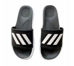 Slider with cushioned footbed footwear flip flop slipper black white