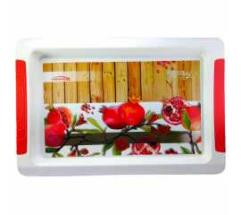 Home use Polycarbonate Printed Rectangular Big Serving Tray (1 piece)