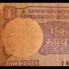 1rupees note of Montek Singh Ahluwalia