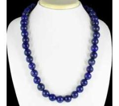 NATURAL BLUE LAPIS LAZULI ROUND BEADS NECKLACE FINEST EVER 698.60 CTS