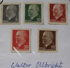 Mint condition 1975 - 85 multiple east Germany stamps